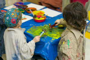 Kids Painting at Camp Limmud